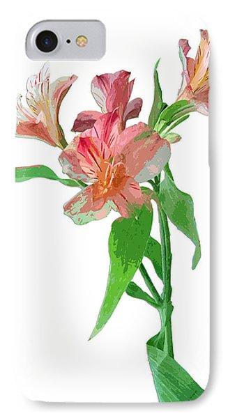 IPhone Case featuring the photograph Pink Peruvian Lilies by Karen Nicholson