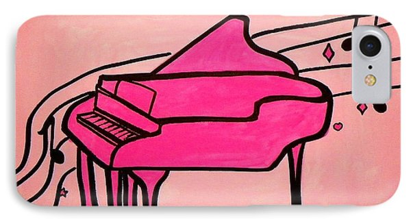 Pink Piano IPhone Case by Marisela Mungia