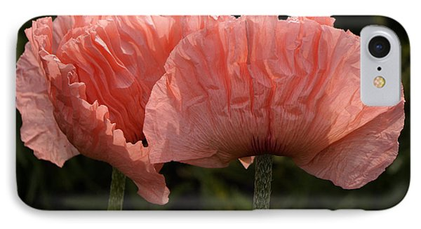 IPhone Case featuring the photograph Pink Poppies by Inge Riis McDonald