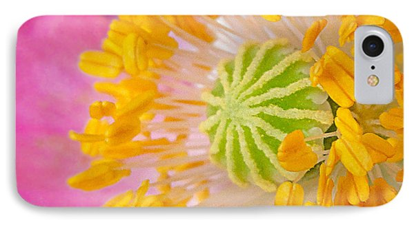Pink Poppy Too Squared IPhone Case