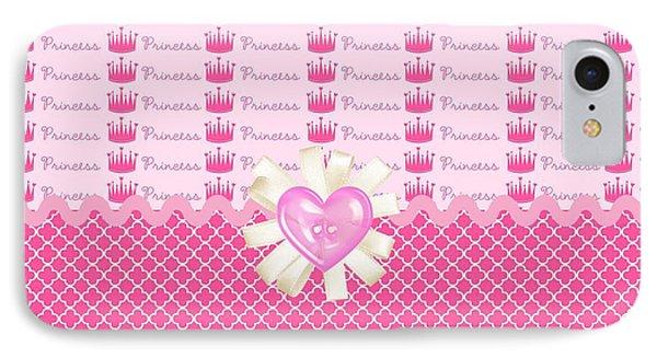 Pink Princess Crowns Phone Case by Debra  Miller