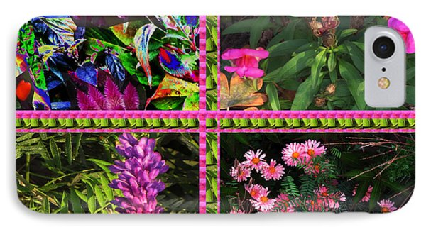 Pink Purple Flowers Captured At The Riverside Ridge At Oakville Ontario Canada Collage Beautiful     IPhone Case by Navin Joshi