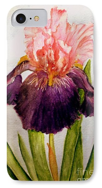 Pink/purple Iris IPhone Case by Carol Grimes