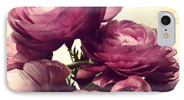Pink  Ranunculus Phone Case by Heather L Wright