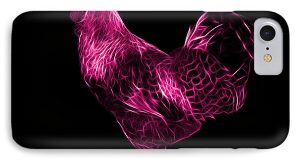 Pink Rooster 3186 F IPhone Case by James Ahn