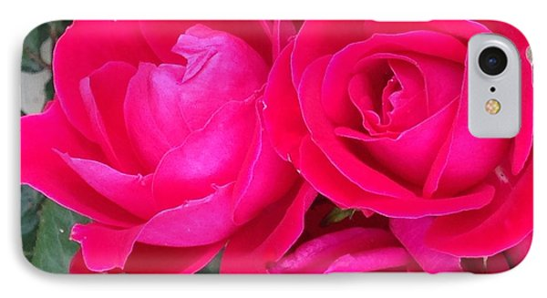 Pink Rose Blossoms IPhone Case