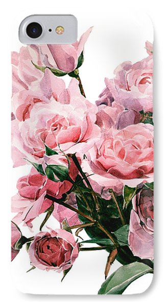 Pink Rose Bouquet IPhone Case by Greta Corens