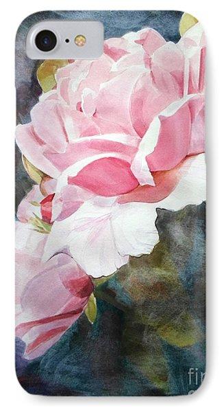 Pink Rose Caroline IPhone Case by Greta Corens
