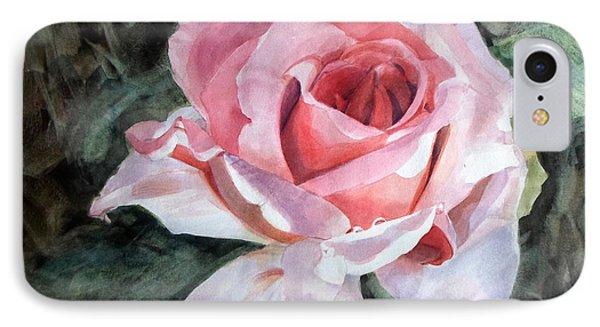 Pink Rose Greg IPhone Case by Greta Corens