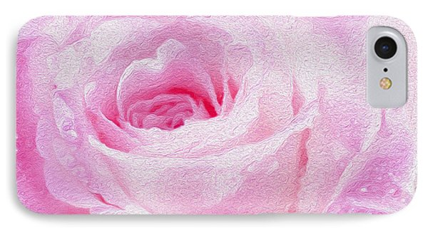 Pink Rose IPhone Case by Jon Neidert