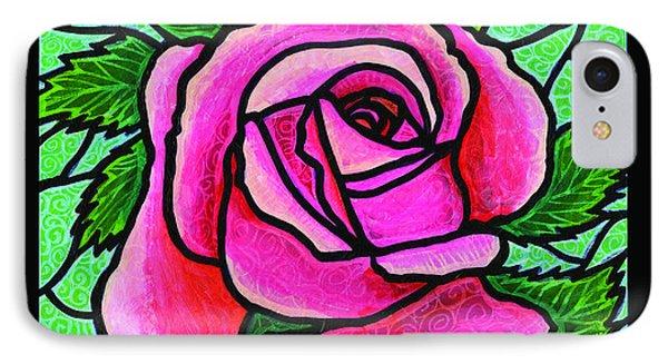 Pink Rose Number 5 Phone Case by Jim Harris