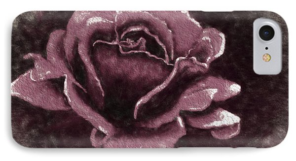 Pink Rose IPhone Case by Terry Cork