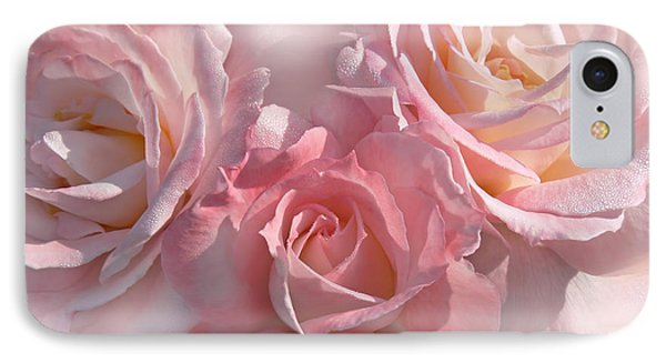 Pink Roses In The Mist Phone Case by Jennie Marie Schell