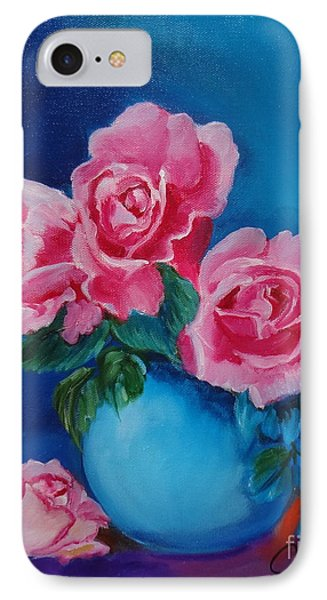 Pink Roses IPhone Case by Jenny Lee