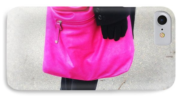 Pink Shoulder Bag IPhone Case by Matthias Hauser