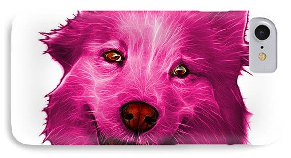 Pink Siberian Husky Mix Dog Pop Art - 5060 Wb IPhone Case