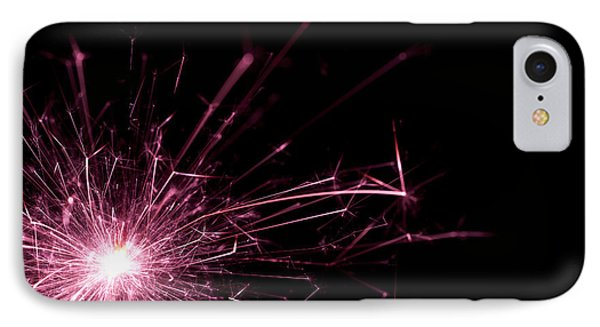 Pink Sparkle IPhone Case by Samuel Whitton