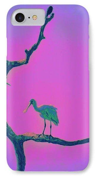 Pink Spoonbill IPhone Case by David Mckinney