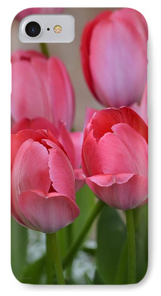 Pink Spring Tulips IPhone Case by Julie Palencia