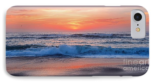 Pink Sunrise Panorama IPhone Case by Kaye Menner