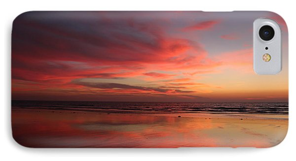 Ocean Sunset Reflected  IPhone Case by Christy Pooschke