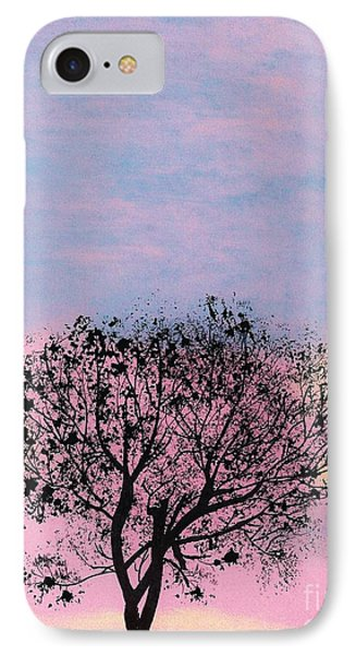 IPhone Case featuring the drawing Pink Sunset by D Hackett