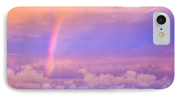 IPhone Case featuring the photograph Pink Sunset Rainbow by Peta Thames