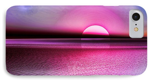 IPhone Case featuring the digital art Pink Sunset by Tyler Robbins