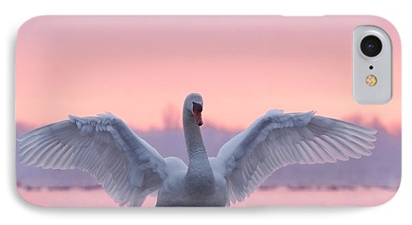 Pink Swan IPhone 7 Case