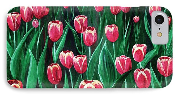 Pink Tulip Field IPhone Case