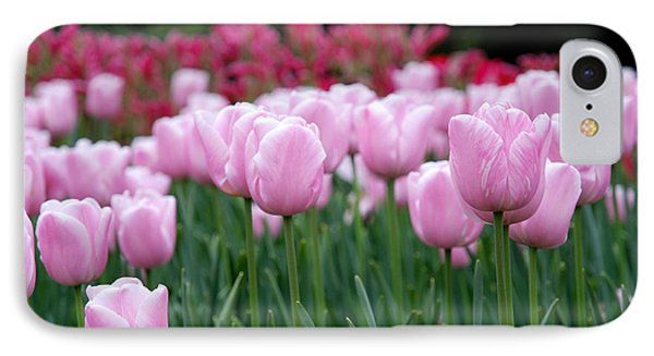 Pink Tulip Garden Phone Case by Jennifer Ancker