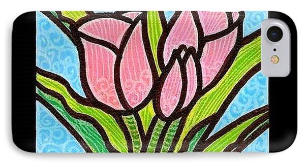 Pink Tulip Trinity Phone Case by Jim Harris