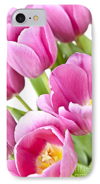 Pink Tulips IPhone Case by Elena Elisseeva