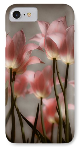 Pink Tulips Glow IPhone Case by Michelle Joseph-Long