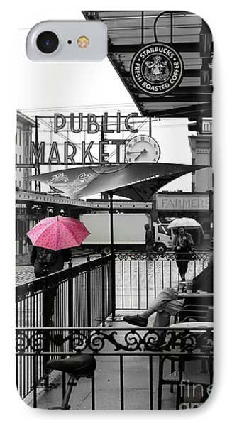 Pink Umbrella IPhone Case by Michelle Wolff