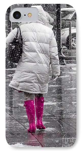 Pink Walk IPhone Case by Susan Cole Kelly Impressions
