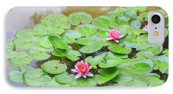 Pink Water Lilies, Lake View Hotel IPhone Case