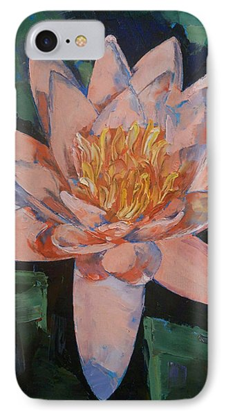 Pink Water Lily IPhone Case by Michael Creese