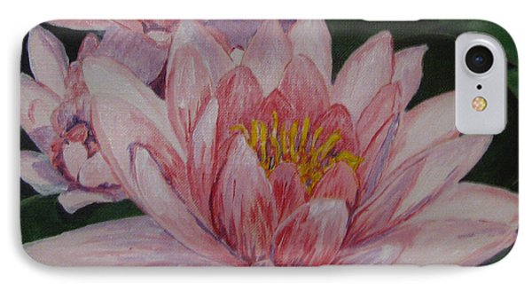 Pink Waterlily Phone Case by Nancie Johnson