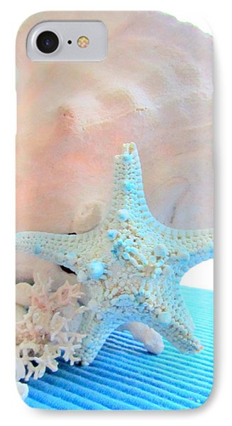 Pink White And Blue Conch And Sea Shells  Phone Case by Danielle  Parent