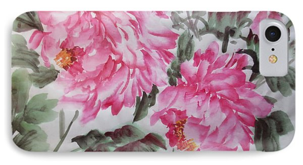 IPhone Case featuring the painting Pink030914-516 by Dongling Sun
