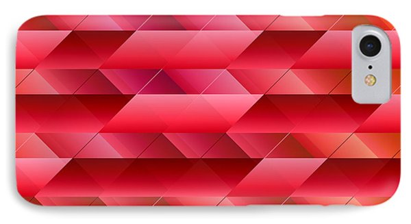 Pinkish Red Abstract IPhone Case