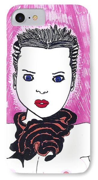 IPhone Case featuring the drawing Pinky Party Girl by Don Koester