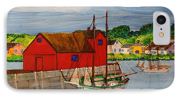 Pinky Schooner Maine At Motif 1 IPhone Case by Bill Hubbard