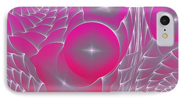 IPhone Case featuring the digital art Pinky Space by Hanza Turgul
