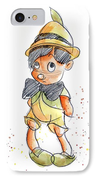 Pinocchio IPhone Case by Andrew Fling