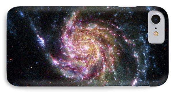 Pinwheel Galaxy Rainbow IPhone Case by Adam Romanowicz
