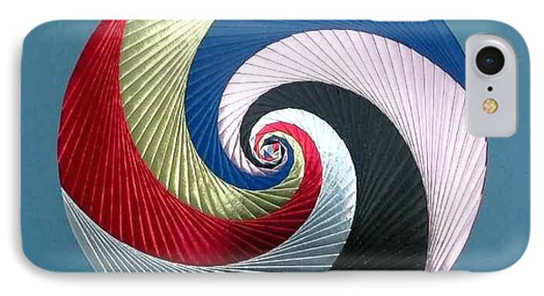 IPhone Case featuring the mixed media Pinwheel by Ron Davidson