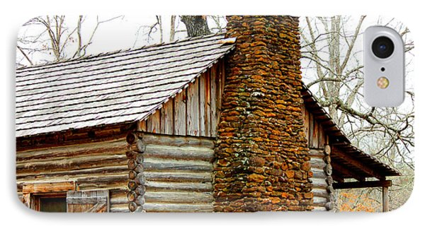 Pioneer Log Cabin Chimney Phone Case by Kathy  White