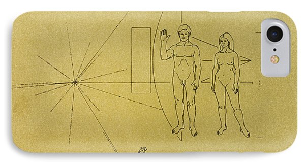 Pioneer Plaque, 1972 IPhone Case by Granger
